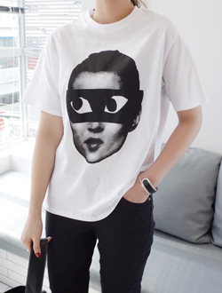 Point face tee ; 2 color BEST ♥